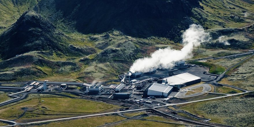 CarbFix plant in Iceland seen from above