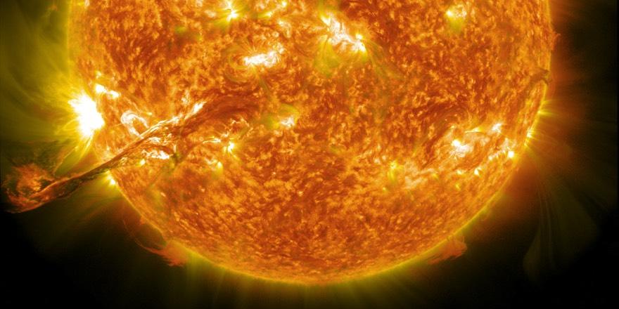 NASA photo of corona mass ejection