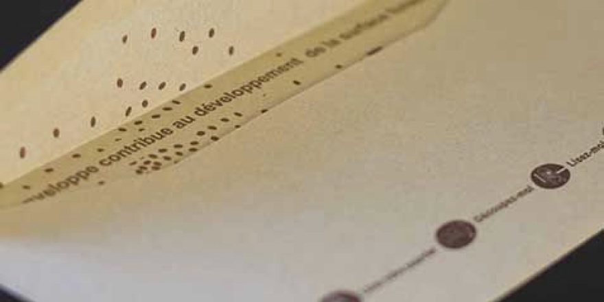 envelope made with minimal environmental impact