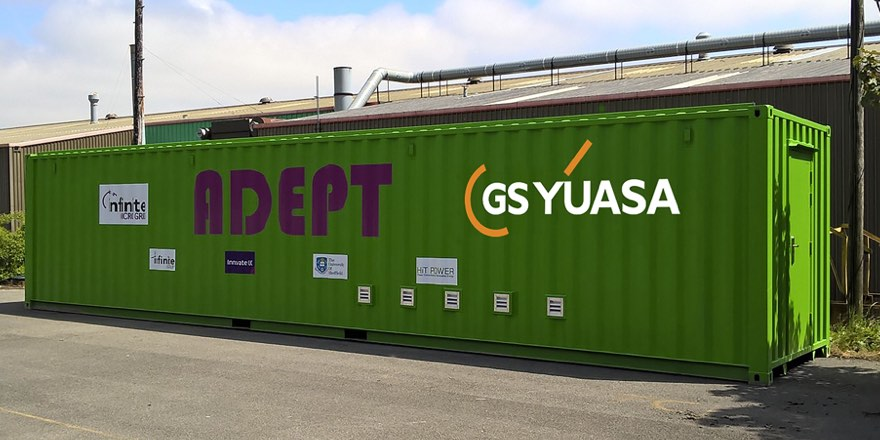 Yuasa battery container