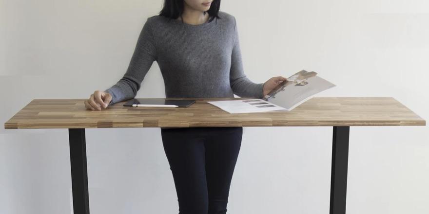 desk made of chopsticks