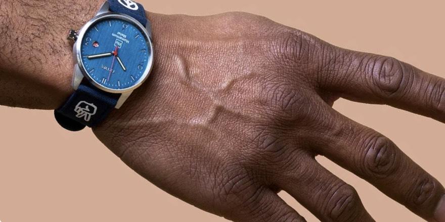 a wristwatch made of humanium