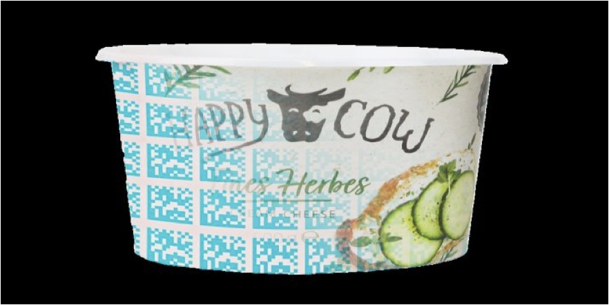 yogourt container with barcode