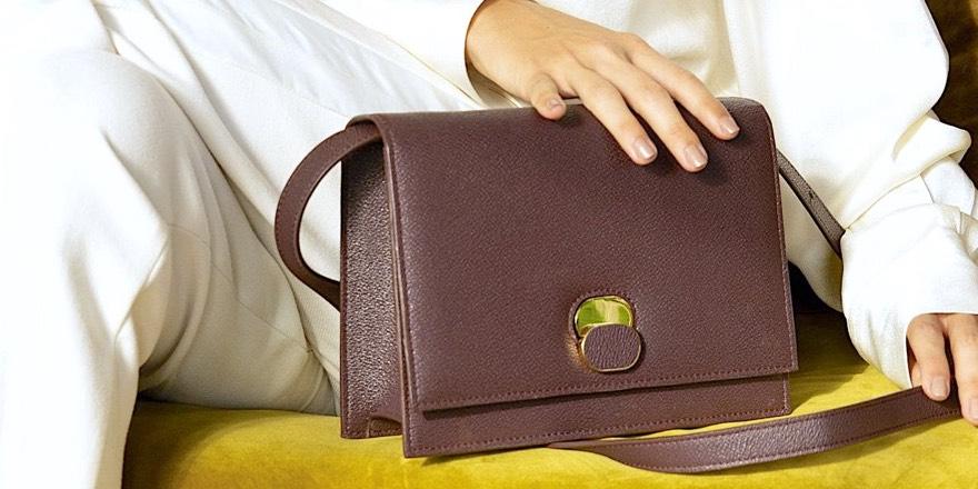 Handbag made of apple leather