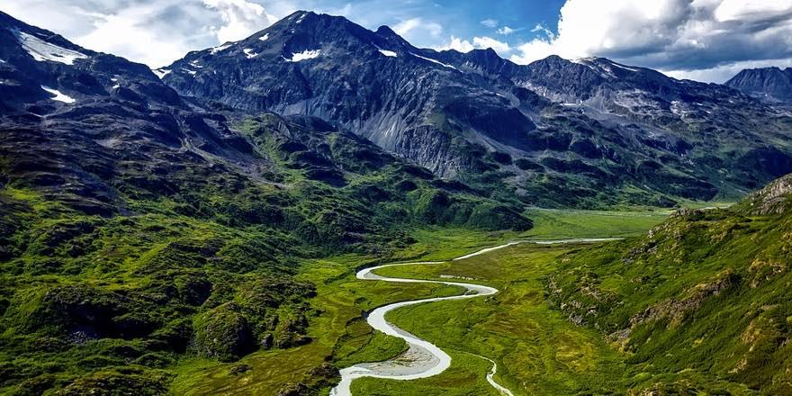 wilderness aerial view