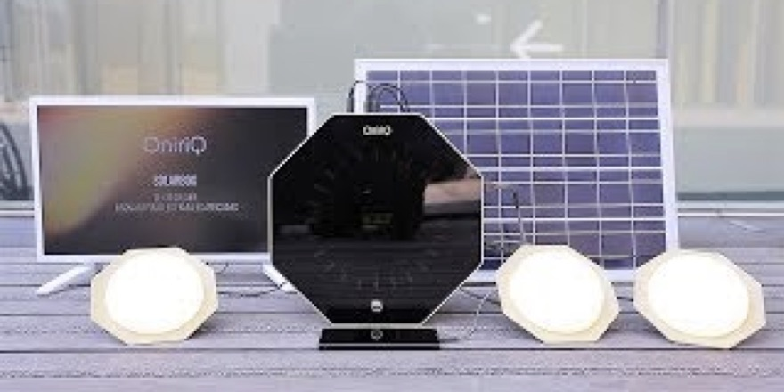 solar box and clock and speakers